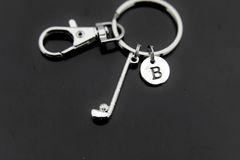 Silver Golf Club Charm Keychain Personalized Keychain