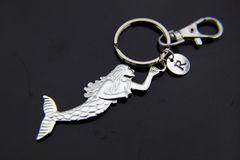 Silver Mermaid Charm Keychain