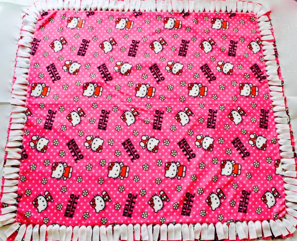 Hello Kitty No Sew Polar Fleece Skating Blanket