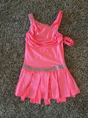 Used Custom Design Coral Figure Skating Dress Adult Medium