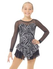 Figure Skating Dress 668 Metallic Silver by Mondor