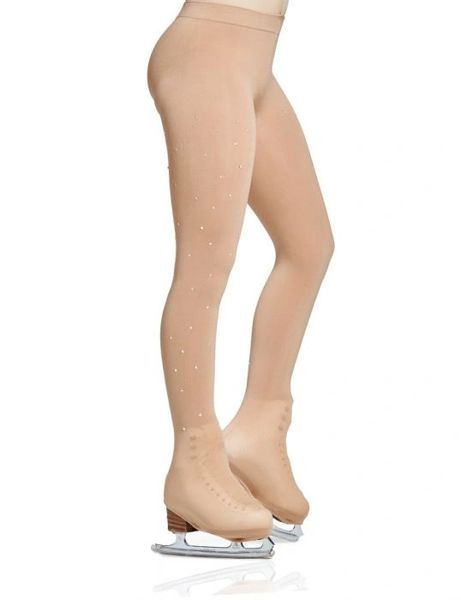 MONDOR Rhinestone 912 Figure Skating Boot Cover Tights