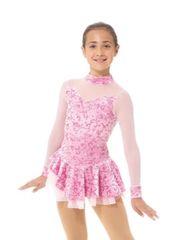 Figure Skating Dress 2768 Glitter Velvet by Mondor