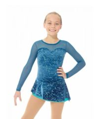 Figure Skating Dress 12927 Glitter Velvet by Mondor