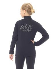 Figure Skating Polartec Jacket with Stone Appliqué by MONDOR Adult Small