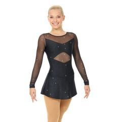 Figure Skating Dress MONDOR Fantasy on Ice Black Glitter 12932