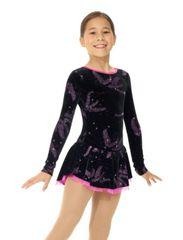 Figure Skating Dress MONDOR Glitter Velvet Delphinium 12934