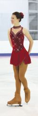 Jerry's Ruby Crystals Figure Skating Dress