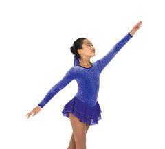 Jerry's Royal Purple Figure Skating Dress