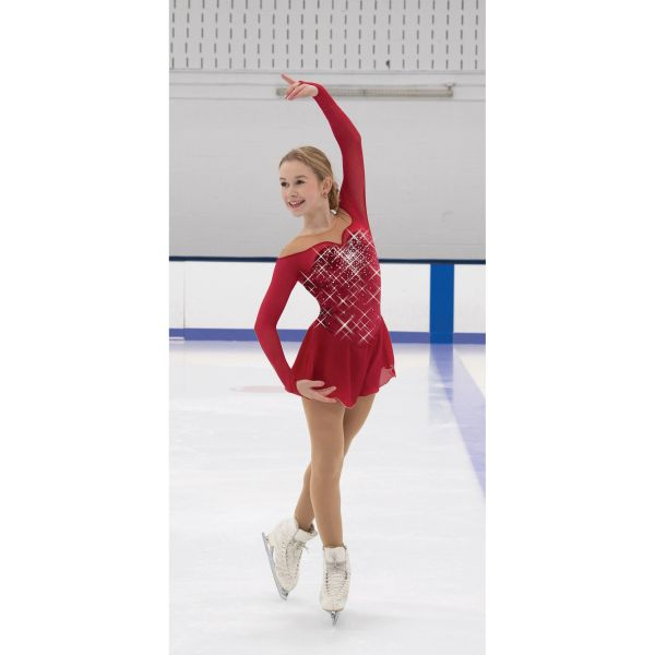 Jerry's Ruby Resonance Figure Skating Dress