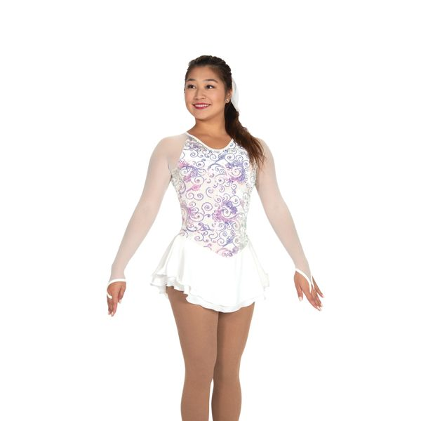 Jerry's Swirly Pearly Figure Skating Dress