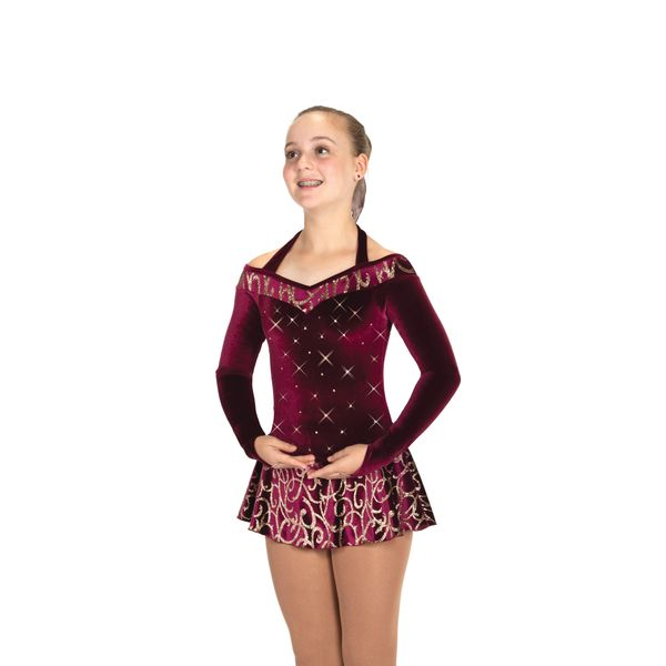 Jerry's Border of Bordeaux Figure Skating Dress