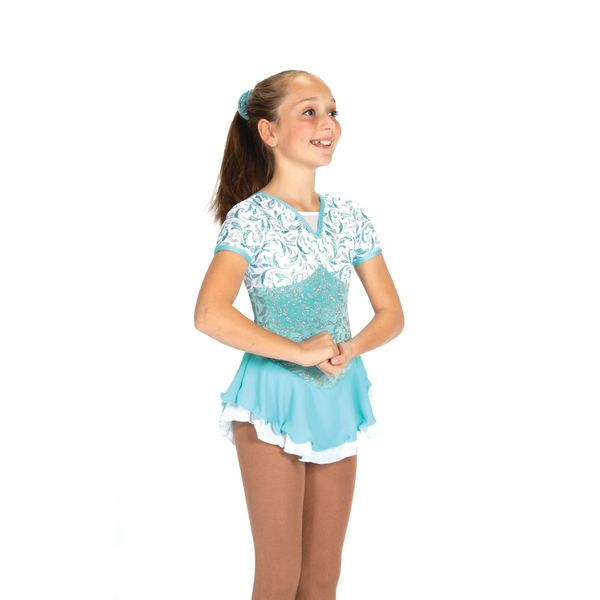 Jerry's Snow at Sea Figure Skating Dress