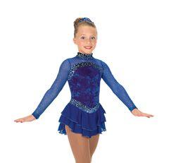 Jerry's Sterling Blue Figure Skating Dress