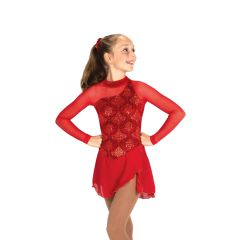 Jerry's Richesse in Red Figure Skating Dress