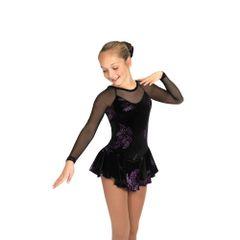 Jerry's Ballet in Black Figure Skating Dress