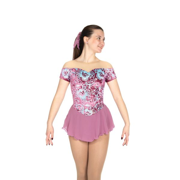 Jerry's Opals on Orchid Figure Skating Dress