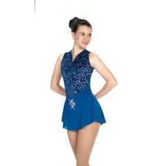 Jerry's Sapphire Sash Figure Skating Dress
