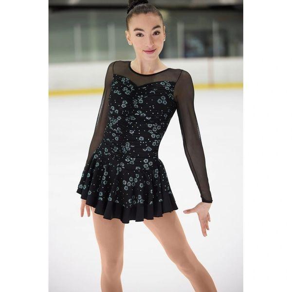 MONDOR Fantasy On Ice Glitter Mesh Figure Skating Dress