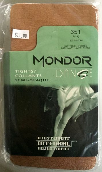 Mondor Suntan Lustrous Footed Dance Tights
