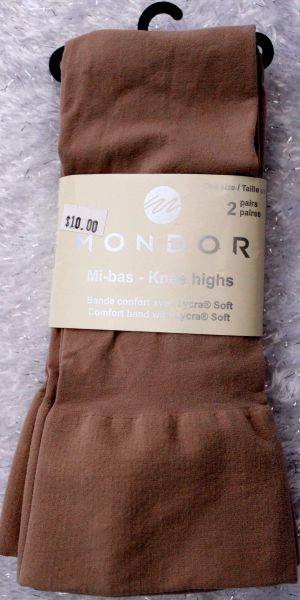 Mondor Light Tan Knee Highs 2 Pair Pack