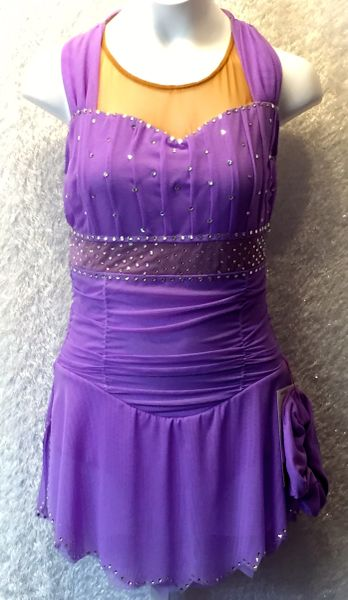 5bbf96c7378d17 Figure Skating Dress Sharene's Lilac Shirred Mesh AB Crystals | Stylish Figure  Skating Dresses and Skirts | Skatewear Styles