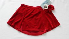 MONDOR Kick Pleat Skating Skirt Ruby Red Ladies Medium