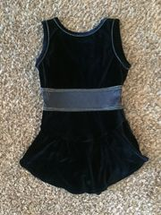 Used Figure Skating Dress GK Elite Navy Blue Velvet Adult Medium