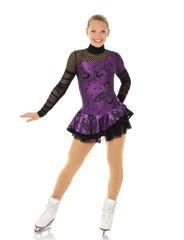 Figure Skating Dress Shiny Cabaret Adult Medium by MONDOR