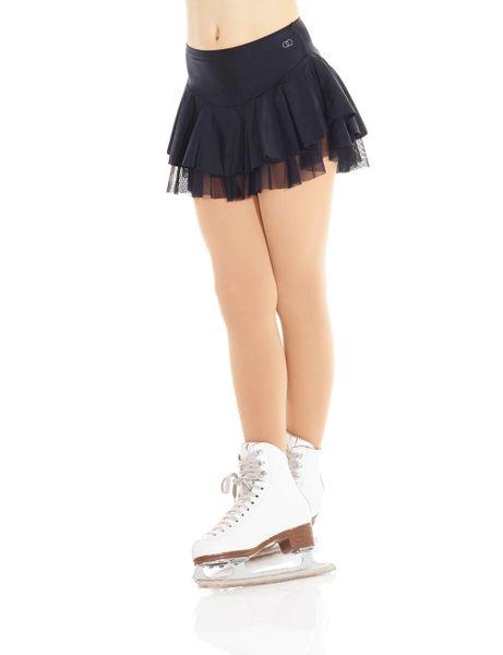 MONDOR Shiny Nylon and Mesh Skirt Attached Brief