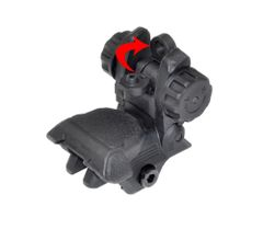 Tactical Smart Polymer Rear Flip Up, Push Down Sight