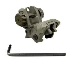 Tactical Smart Polymer Rear Flip Up Sight, Green