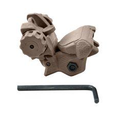 Tactical Smart Polymer Rear Flip Up Sight, Tan