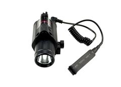 Tactical LED Flashlight and Red Laser Sight Combo