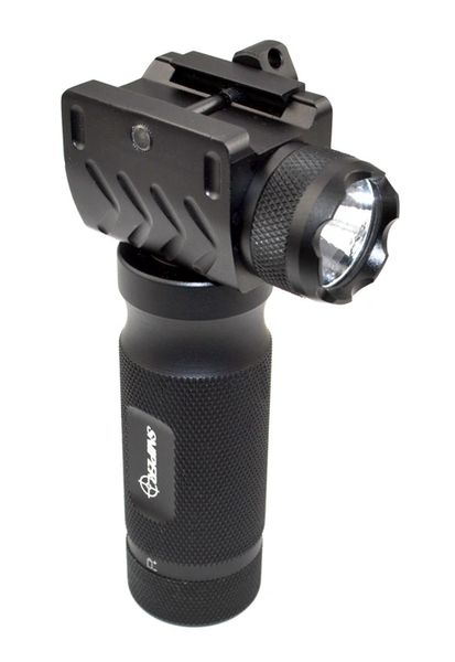Aluminum Fore Grip with Integral Flashlight