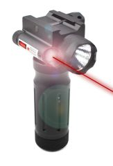 Aluminum Fore Grip with Flashlight and Red Laser Sight