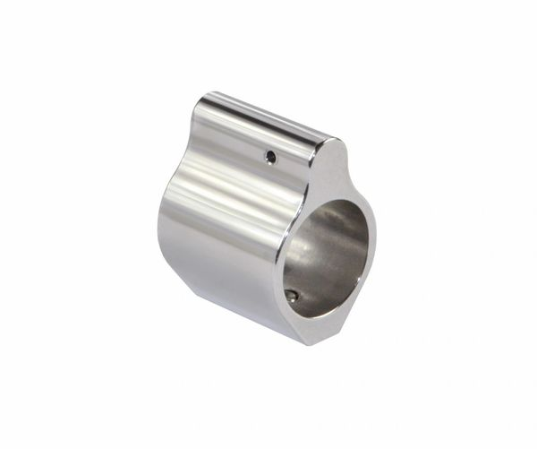 """Stainless Steel .750"""" Low Profile Gas Block"""