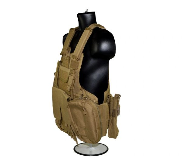 Cross Draw Tactical Multi Function Vest, Tan