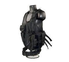 Cross Draw Tactical Multi Function Vest, Black