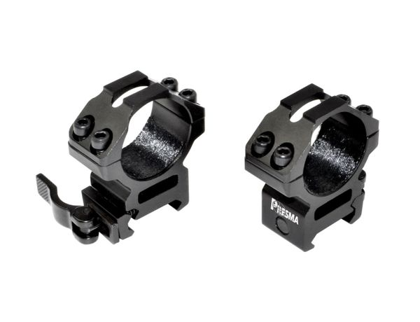 Presma® Wing Series, 30mm Quick Release Scope Rings, Medium Profile