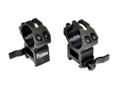 Presma® Wing Series, 30mm Quick Release Scope Rings, High Profile