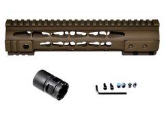 "Presma® Gorilla Series AR-10 .308 Super Slim Free Float Handguards, Cerakote Bronze Brown 10"""