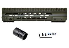 "Presma® Gorilla Series AR-10 .308 Super Slim Free Float Handguards, Cerakote Dark Green 10"""