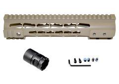 "Presma® Gorilla Series AR-10 .308 Super Slim Free Float Handguards, Cerakote Desert Sand 10"""