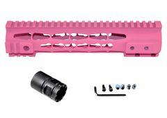 "Presma® Gorilla Series AR-10 .308 Super Slim Free Float Handguards, Cerakote Pink 10"""
