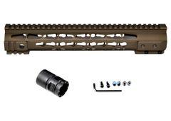 "Presma® Gorilla Series AR-10 .308 Super Slim Free Float Handguards, Cerakote Bronze Brown 12.5"""