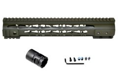 "Presma® Gorilla Series AR-10 .308 Super Slim Free Float Handguards, Cerakote Dark Green 12.5"""