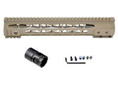 "Presma® Gorilla Series AR-10 .308 Super Slim Free Float Handguards, Cerakote Desert Sand 12.5"""
