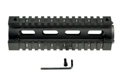 "Sniper® 2 Piece Drop In Quad Rail Handguard AR-10 .308, 6.75"" Carbine Length, Round End Cap"