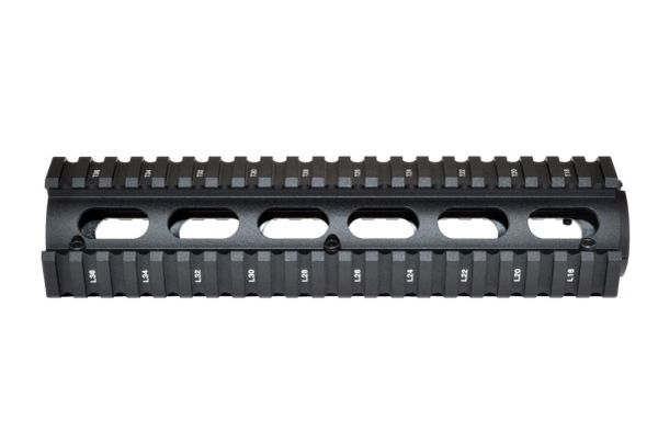 "2 Piece Drop In Quad Rail Handguard .308's with Round End Cap, 8.75"" Mid Length"